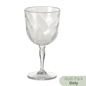 diamond goblets in clear